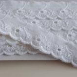 Spitze 25mm weiß Baumwolle