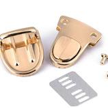Mappenschloss 30*39mm Gold