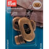 PRYM Drehverschluss 20 x 35mm Alt-Messing