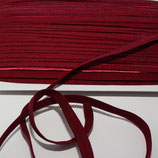 Paspelband 10 mm bordeaux elastisch