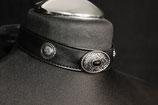 Kunstleder Halsband mit Conchos #13