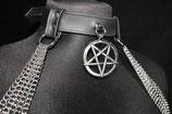 Ketten Collar mit Pentagram #19