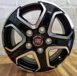 Maxi: 16 Zoll: TF-SIx (silber-schwarz), 4x Alufelgen, Radsatz, 5x130 FIAT 1399168080