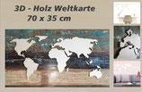 3D Holz - Weltkarte