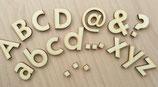Buchstaben aus Holz modern - 10 cm