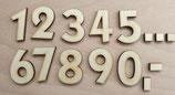 Zahlen aus Holz modern - verschiedene Größen