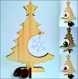 Christbaum mit Filz-Kristall