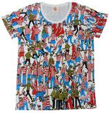 ウォーリをさがせ レディース半袖Tシャツ ホンモノ