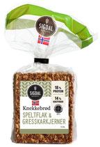 KNEKKEBRØD GRESSKARKJERNER 225G SIGDAL