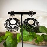 Ornament Ohrringe aus Metall - Rund