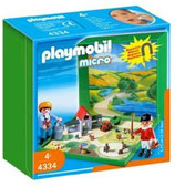 Mini Granja para jugar los Playmobil