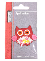 Applikation Eule rot