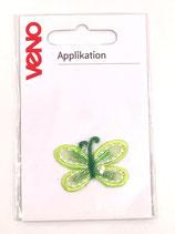 Applikation Schmetterling grün