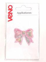 Applikation Schleife Pailletten Pastell bunt