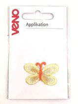Applikation Schmetterling gelb/orange