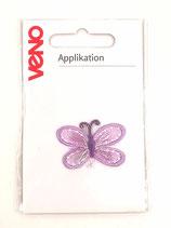 Applikation Schmetterling lila