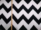 Zacken groß schwarz/ weiß