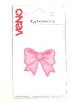 Applikation Schleife Pailletten rosa