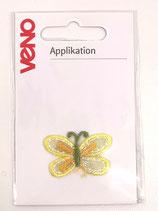 Applikation Schmetterling gelb/ grün