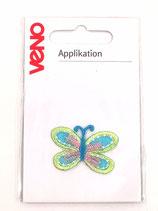 Applikation Schmetterling grün/türkis