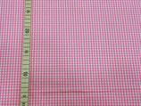 Baumwolle rosa/weiß kariert