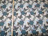 Schmetterlinge blau auf grau meliert