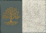 Lebensbaum Grau + Baumwollplüsch