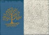 Lebensbaum Blau + Baumwollplüsch