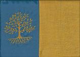 Lebensbaum Blau + Ockergelb