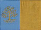 Lebensbaum Hellblau + Ockergelb