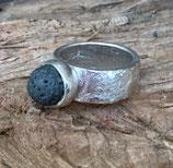 "Ring ""Lavasteinperle"""