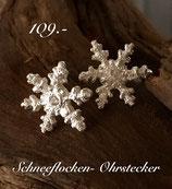 Schneeflocken- Ohrstecker