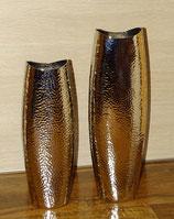 Vase Aluminium gehämmert