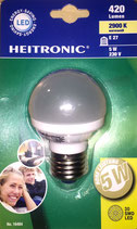 Heitronic LED Leuchtmittel E27 5W Warmweiß