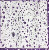Ambiente Papierservietten Luxury Stars Aubergine