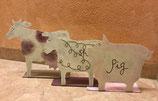 Metallaufsteller Farmtiere