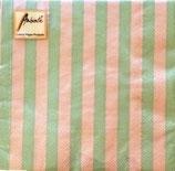 Ambiente Papierservietten Stripes Jade/Taupe