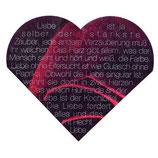 """Räder Love Edition Herzservietten """"Rose mit Schrift"""""""