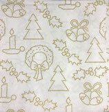 Ambiente Papierservietten X-Mas Crafts Pos. Gold