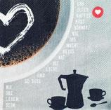 """Räder Poesie et Table Breakfast Servietten """"Kaffeetasse"""""""