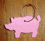 daff Schlüsselanhänger Schwein Filz