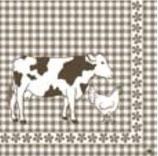 Ambiente Papierservietten Dutch Cow Taupe