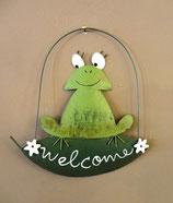 """Hänger Frosch """"Welcome"""""""