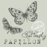 Ambiente Papierservietten Papillon Sand