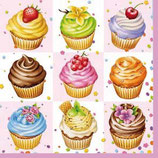 Ambiente Papierservietten Cupcakes Square Pink