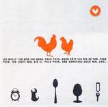 """Räder Poesie et Table Breakfast Servietten """"Hahn"""""""