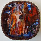 Ernst Fuchs zierteller Motiv Aphrodite & Persus 7734 A 1994