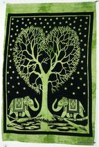 Wandposter Herzbaum Elefanten