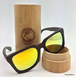 Polarisierte Bambus Sonnenbrille gelbe Gläser