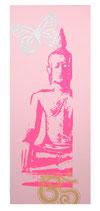 "Kraft-Bild ""Neon Buddha"" hellrosa"